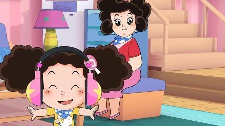棉花糖:蓝天爸爸送给棉花糖一个好礼物,带上后随时随地都能听歌