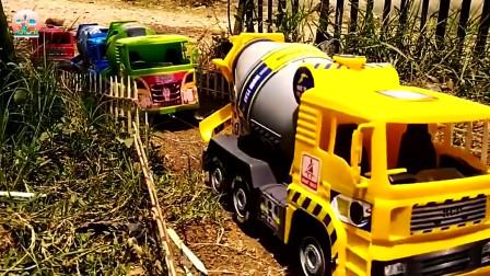 搅拌车和运输车玩具,翻斗车、自卸车、装载车玩具,建筑工程车车队玩具