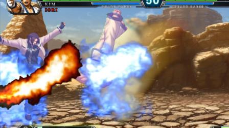 拳皇13:草薙京EX升龙对上金馆长的EX半月,想想就有点惨