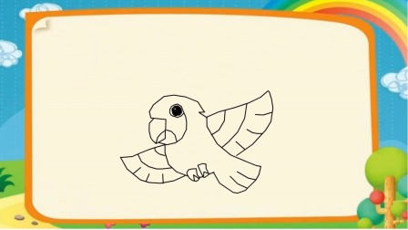 鹦鹉怎么画 鹦鹉简笔画