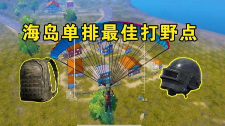 和平精英:海岛新晋单排最佳打野点,从这去出生岛还很方便!