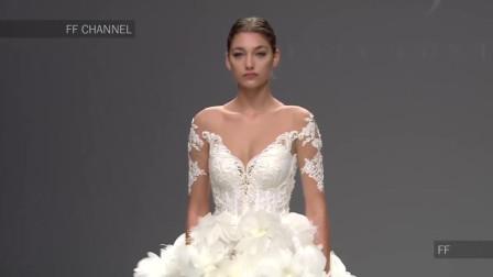 Julia Kontogrun新娘婚纱时装秀,魅力优雅,超模转身很惊艳