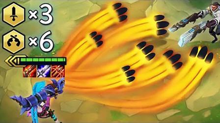 LOL:云顶之弈3剑士6枪手,全游戏最高DPS套路!