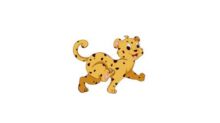 暖光绘画课堂,教你画简笔画金钱豹,有着美丽花纹的花豹