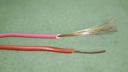 电工知识:偷学来的电线接头绝活,硬线中间接软线,切记不要直接缠