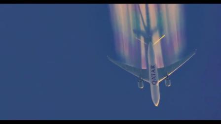 人造彩虹来了! 看飞行员这波最骚的操作