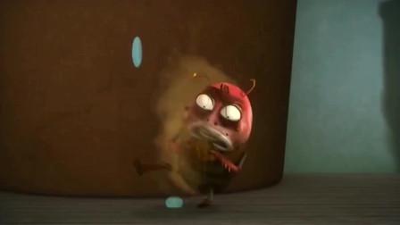 爆笑虫子:臭气熏天的屎壳郎第一次洗澡,没想到变成了黄金屎壳郎