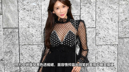 林志玲米兰看秀生图留出 身穿黑色透视裙面容憔悴不在状态