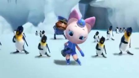北极熊与南极的企鹅齐聚一堂,跳起动感舞蹈