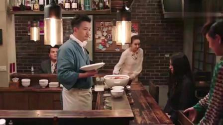 深夜食堂:黄磊老板用了一大碗的蟹面,帮泡面三姐妹,重归于好