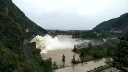 壮观!实拍西安黑河金盆水库第六次泄洪