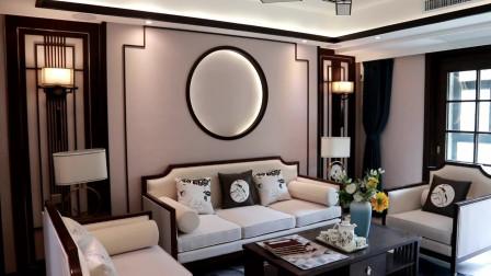 140平新中式装修风格,整套房都围绕一个色系,可以用奢华来形容