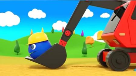 冒充工人的吃豆人带着挖掘机疯狂掠食!吃豆人游戏