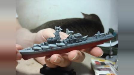 4D 舰船 莫斯科号巡洋舰 拼装玩具模型 闲谈