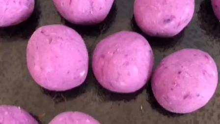 爆浆紫薯芝士球,非常妙的小零食,大人孩子都喜欢吃,真的