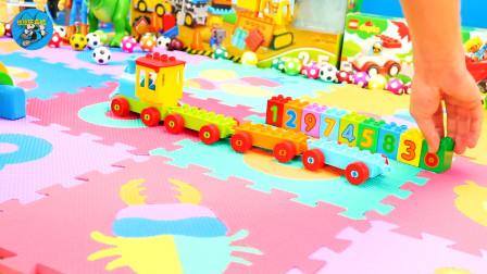 惯性工程火车车,足球和小火车搬运积木玩游戏,大轮船游乐园,农场动物玩具,儿童玩具亲子互动悠悠玩具城