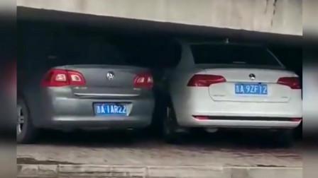 这车停的真厉害!老司机一般都低调