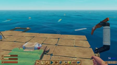木筏求生:做一根矛以后就不怕鲨鱼了!