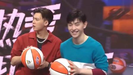 我要打篮球:李易峰邓伦现场投球,究竟谁的球技更胜一筹?