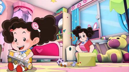 棉花糖听不见云朵妈妈说话,米花咬着拖鞋到处跑,不听妈妈的话!