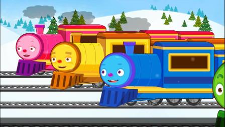 亲宝汽车总动员儿歌-火车之歌 小火车嘟嘟嘟跑看看哪个小火车跑的快