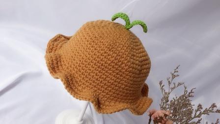 可爱嫩芽帽荷叶边儿童帽子毛线钩针零基础视频教程毛线最新织法
