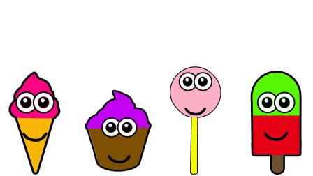 儿童零食雪糕 棒棒糖涂上不同的颜色