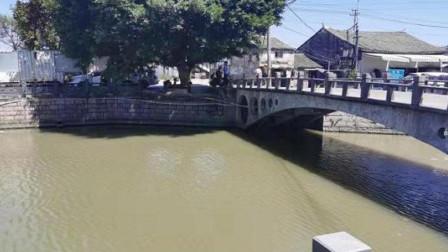 小车过桥时突然坠河 监控拍下惊险全过程