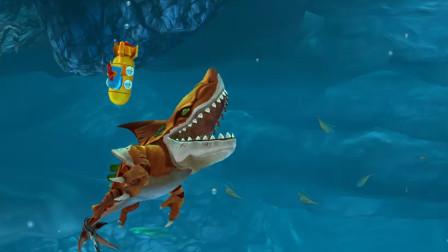 饥饿鲨世界:专克潜水员和潜水艇的鲨鱼宝宝,真的能打潜水员吗?