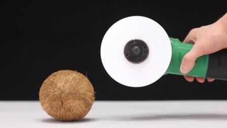 老外实验用白纸切椰子壳,刀都切不开何况是一撕就破的白纸呢!