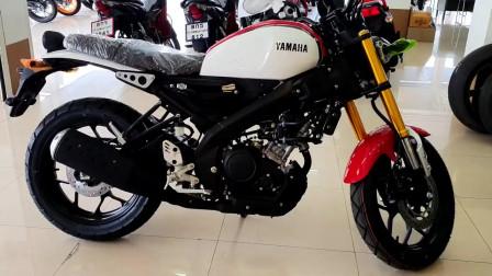 实拍雅马哈最新款小排量复古摩托XSR155