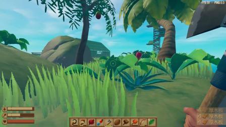 木筏求生 为了生存上岛砍树 光秃秃的小岛