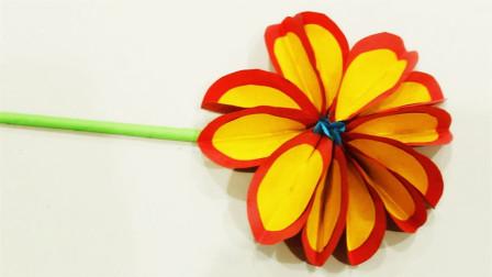 儿童手工制作大全 花朵制作方法 吉祥花折纸教程