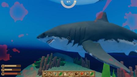 木筏求生 愤怒的我下海怼鲨鱼