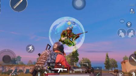 """和平精英:玩家遇到""""神仙""""敌人,看到打不到,有空气墙保护!"""