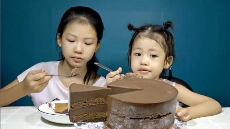 受无数女生喜爱的巧克力慕斯蛋糕,香浓的巧克力味,吃一口好幸福
