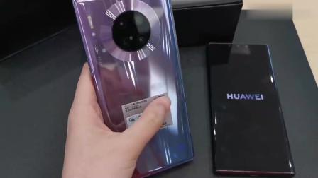 华为 Mate 30 开箱,实拍新色号—罗兰紫、星河银 ,太惊艳了