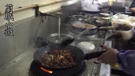 西安最牛炒鸡,4口锅不停炒人均25元,顾客挤不上桌能吃上靠运气