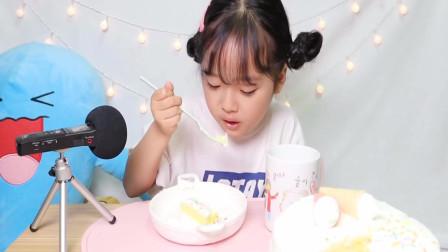 小女生吃完三分一的蛋糕后,还能继续吃?