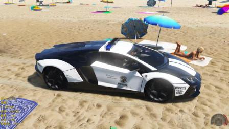 GTA5:会飞的兰博基尼雷文顿警车你见过吗?