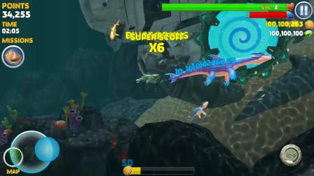 饥饿鲨进化:蛟龙鲨鱼1V3大战远古苍龙和灭世魔龙还有远古邓氏鲨