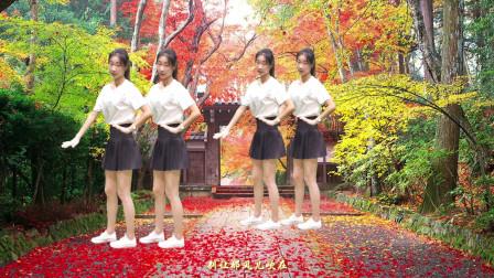 广场舞《雨中的姑娘》DJ情歌对唱, ,歌美舞美,忍不住看了好几遍