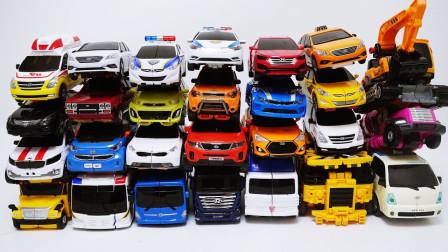 能在现实中找到的27辆变形金刚 TOBOT迷你特工队机甲玩具车