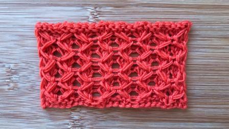 棒针菱形格子花样的视频教程,精致立体,给儿童织大衣很帅气毛线的编织过程
