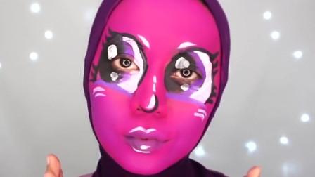 脸部彩绘,小姐姐技术真好,化得真像
