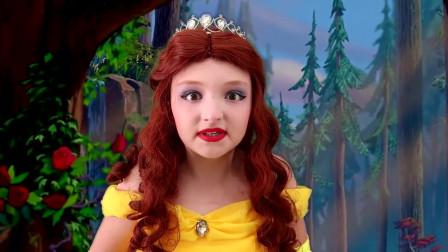 迪士尼贝儿公主仿妆,小公主真可爱,你觉得呢