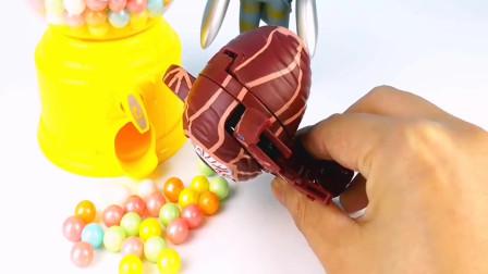 奥特曼怪兽糖果机吃美食变奇趣蛋奥特蛋怪兽蛋玩具蛋