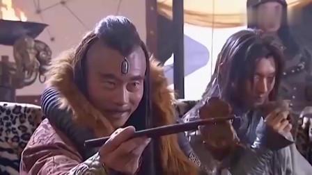 金轮法王用筷子与众高手比试,抢一块牛肉,不料被一个老头抢了去