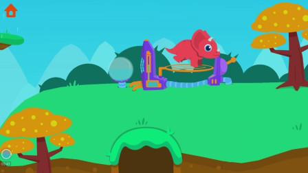 卡哇伊的三角龙大冒险,还有跳跳床可以玩!侏罗纪总动员