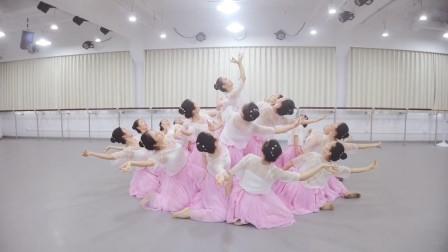 古典舞《莲花》比赛版,才排练了5次第1次录像,漂亮的荷花仙子!